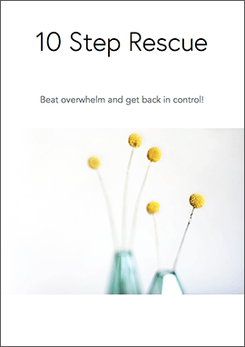 beat overwhelm simple living