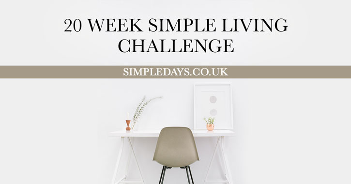 20 week simple living challenge