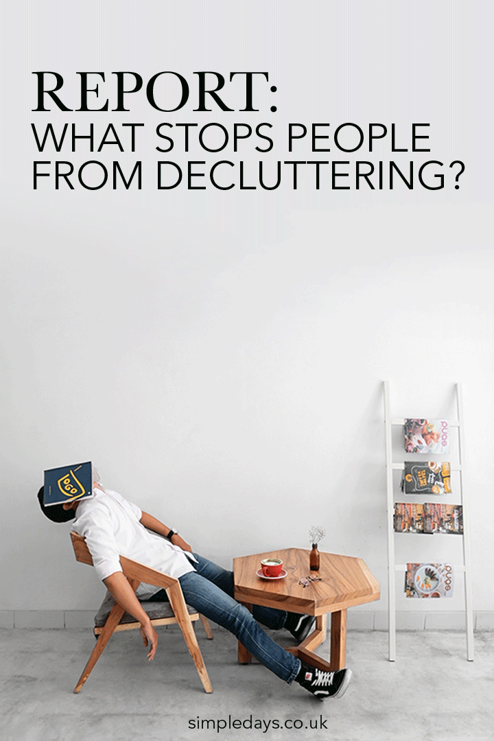 Report what stops people from decluttering
