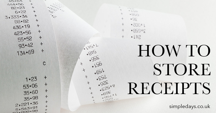 How to store receipts