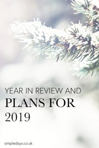 My year in review at Simple Days, and plans for 2019. Goal setting, theme words, what's to come and blogging traffic insights.